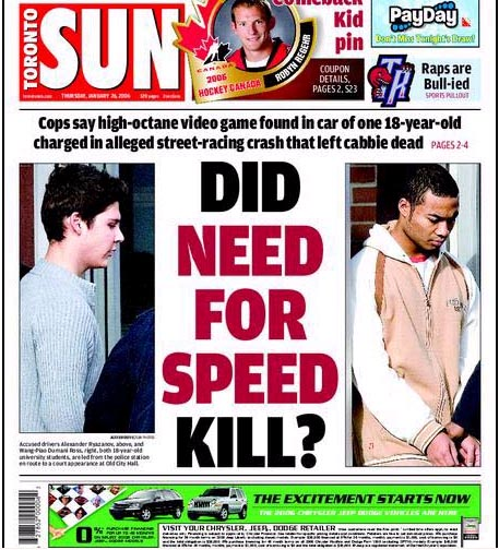 DID CAR AD KILL (Toronto Sun cover, Jan 26 06)