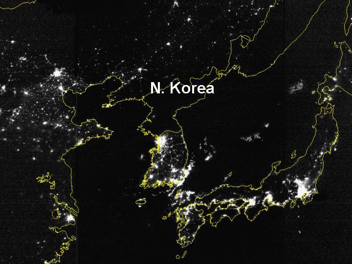 earth hour north korea style ca 2000