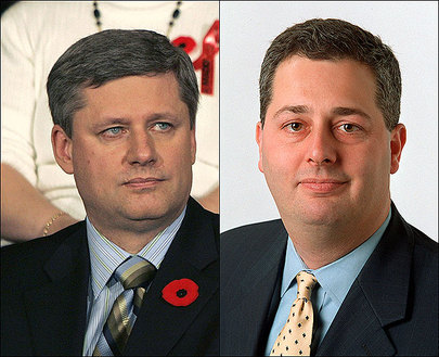 Stephen Harper and Guy Giorno
